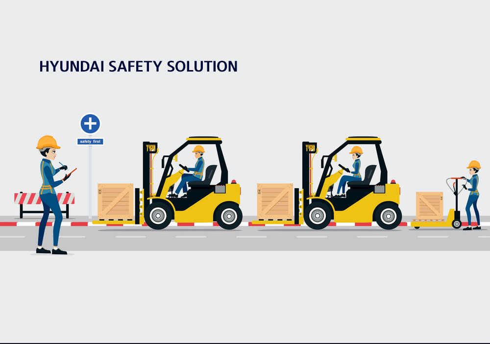 SAFETY SOLUTION ON HYUNDAI FORKLIFT